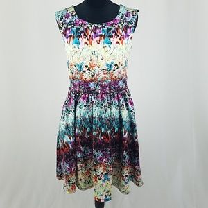 Cynthia Rowley 8 sleeveless spring abstract dress